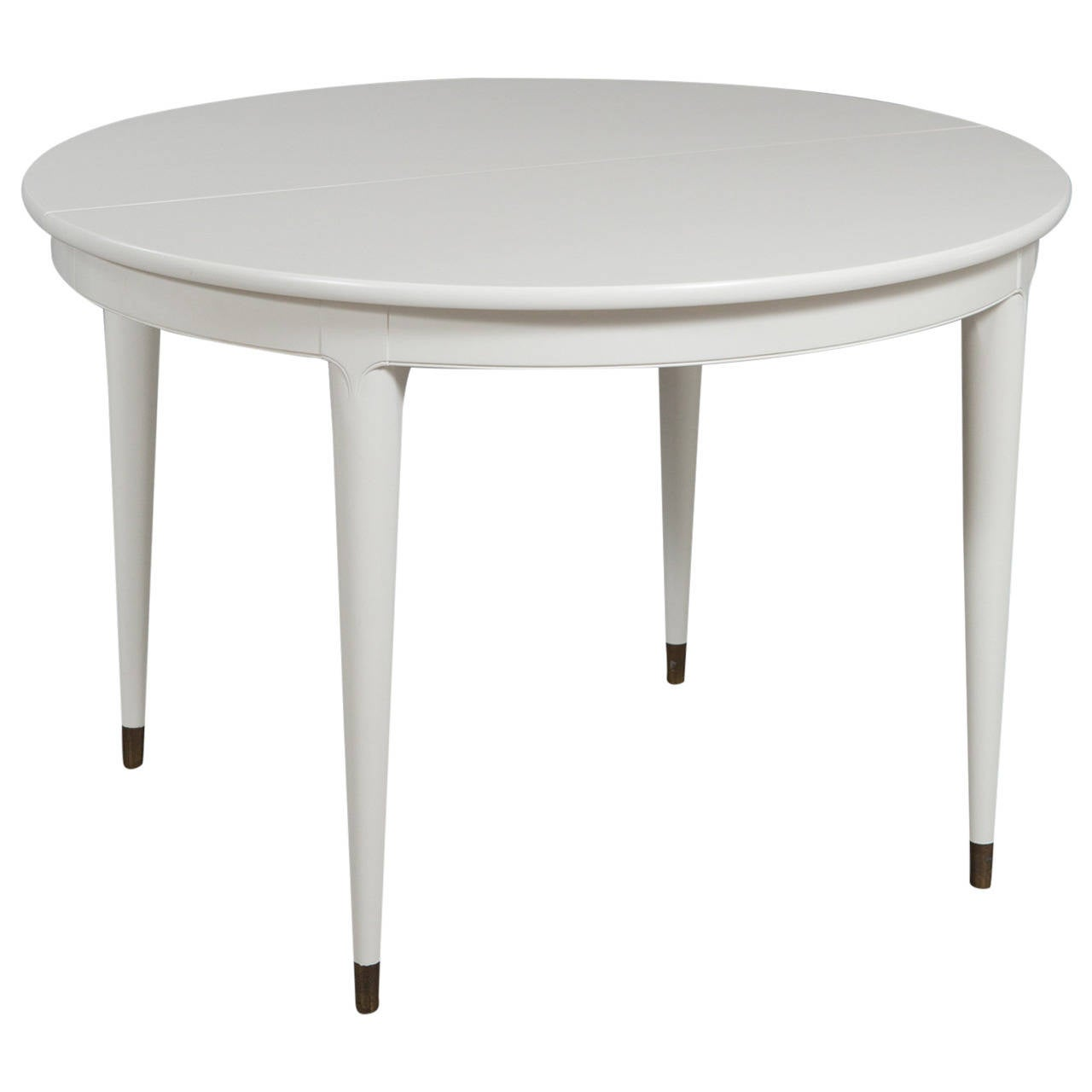 Round widdicomb dining table with two leaves at 1stdibs for Dining room table 2 leaves
