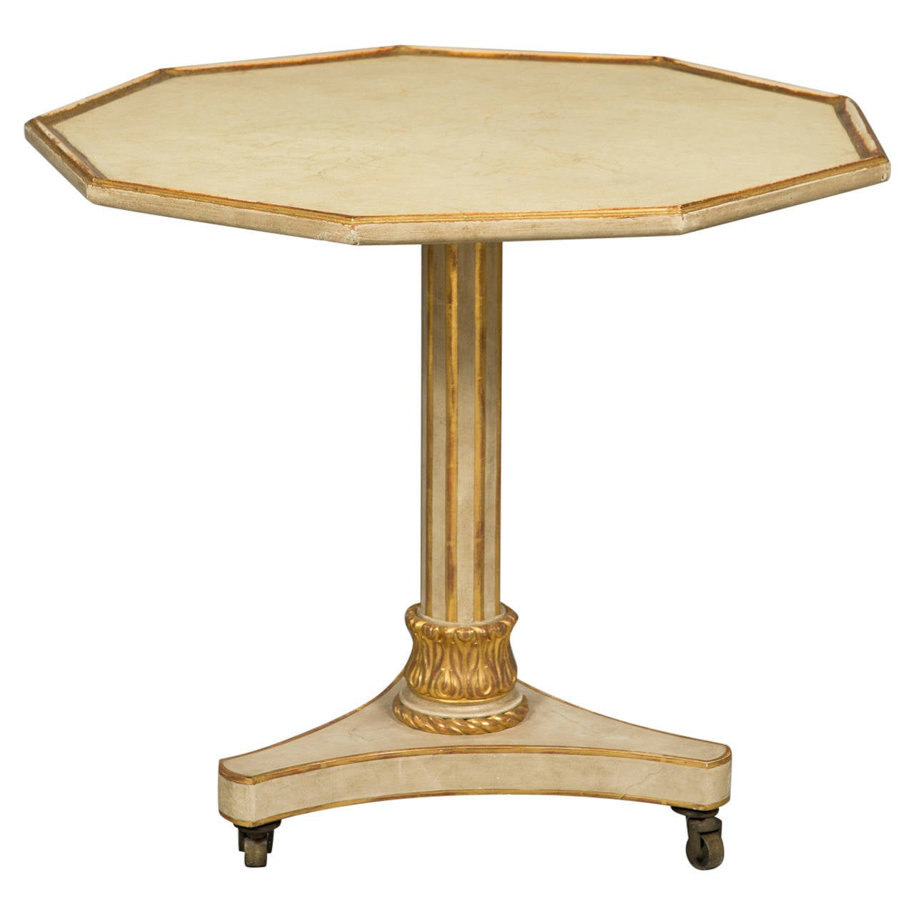 Neoclassical Style Parcel Gilt Center Table For Sale