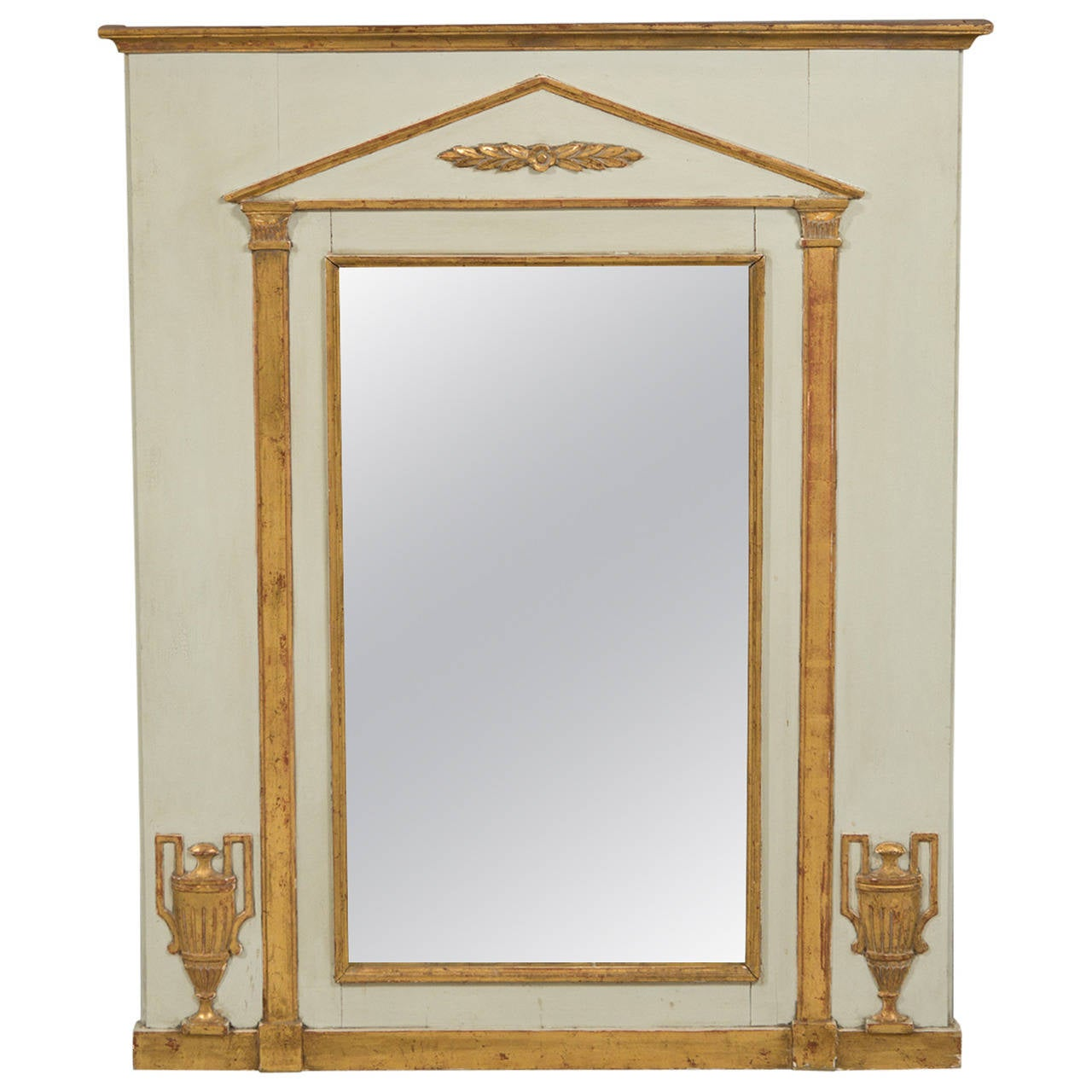 Neoclassical-style trumeau mirror, 1950s, offered by Bardin Palomo