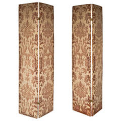 Pair of Modern Two-Panel Fortuny Style Screens