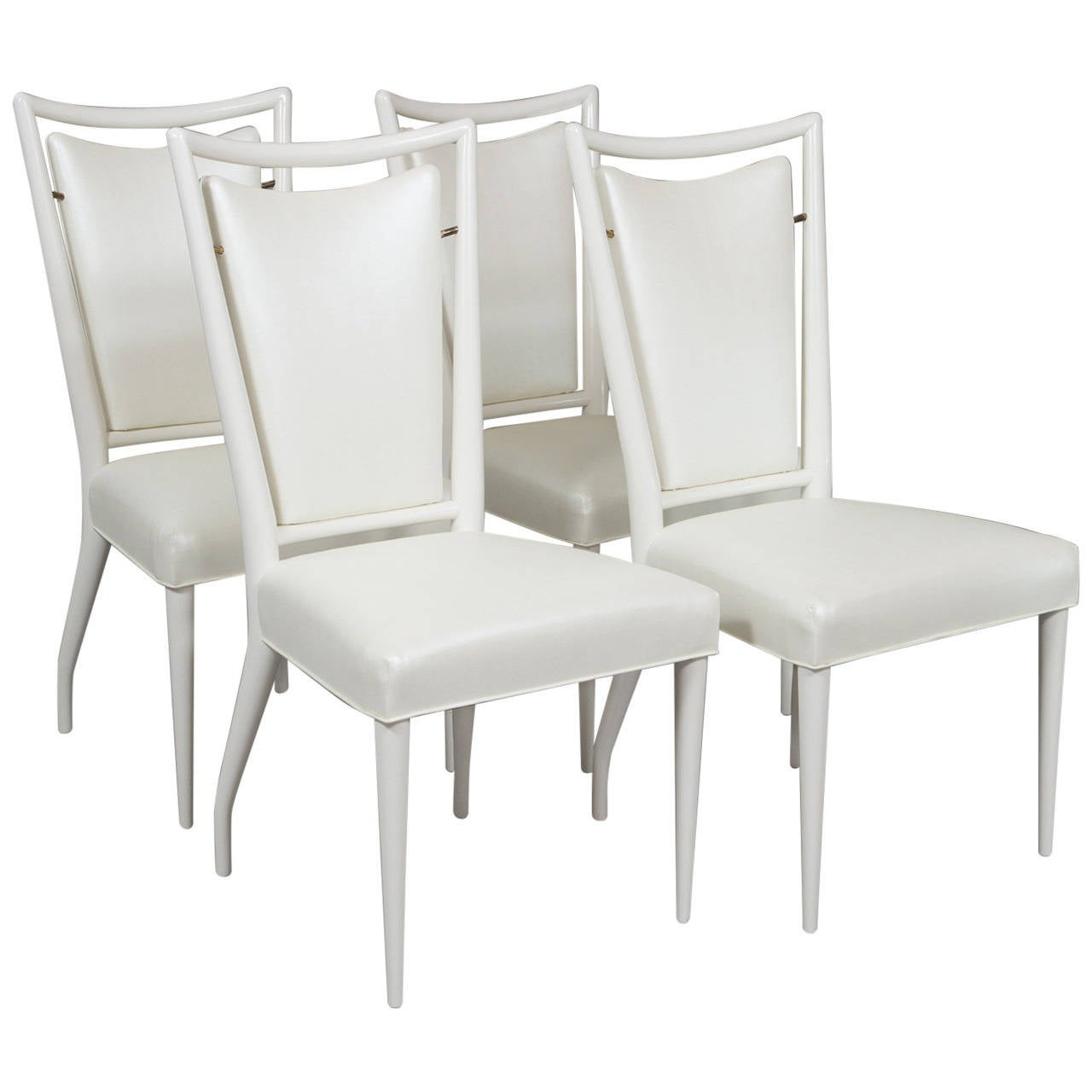 Set of J. Stuart Clingman Dining Chairs for Widdicomb For Sale