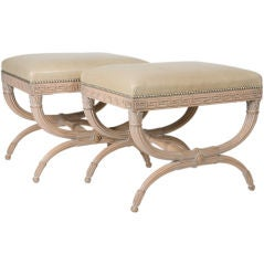 Pair of Neoclassical Benches