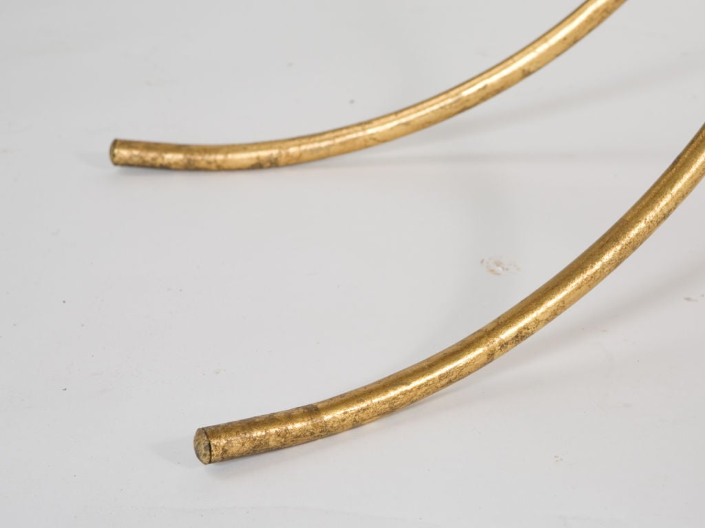 Mid-Century Gilt Iron Console For Sale 4