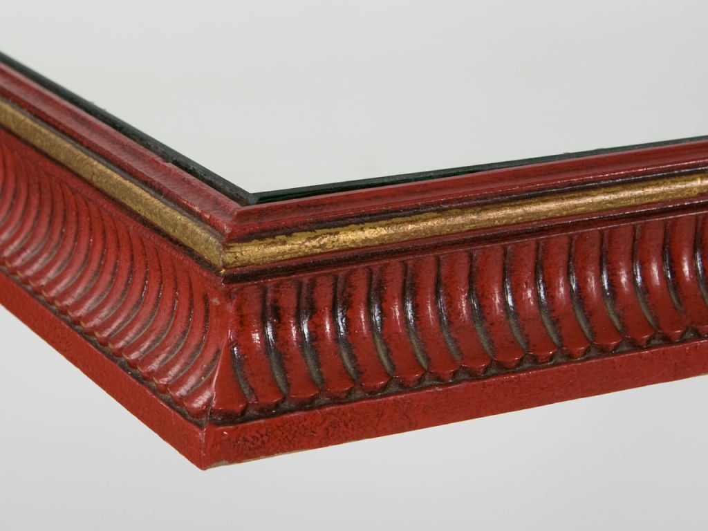 Mid-Century Gilt Iron Console For Sale 5