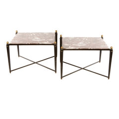 Pair of Neoclassical Style End Tables