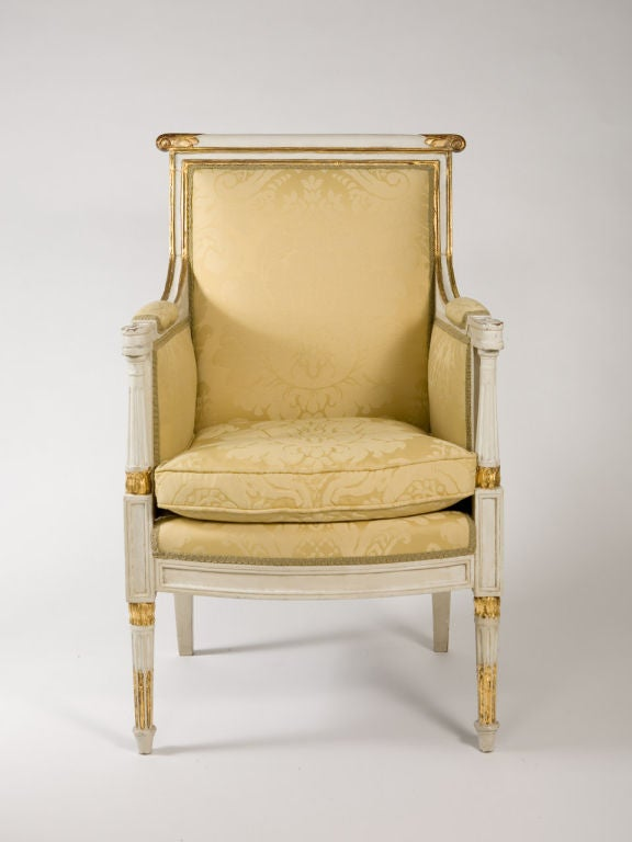 Gilt Louis XVI Style Bergere For Sale