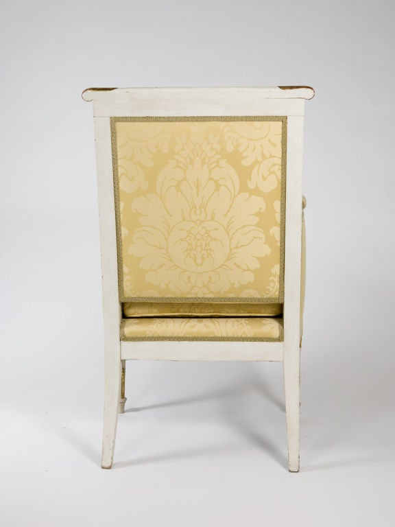 Wood Louis XVI Style Bergere For Sale