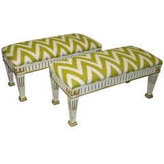 Pair of Neoclassical Style Benches