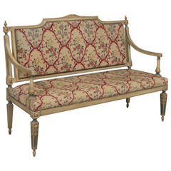 Louis XVI Style Needlepoint Upholstered Settee