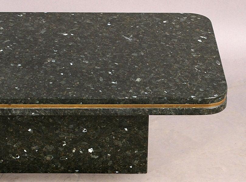 Modern Granite Coffee Table at 1stdibs