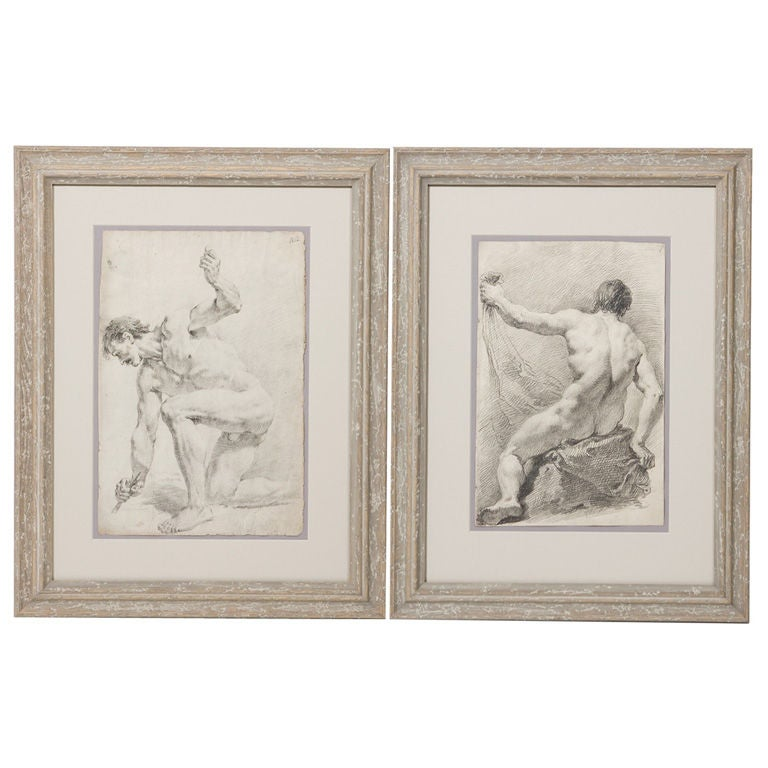 Pair of 19th Century Drawings For Sale