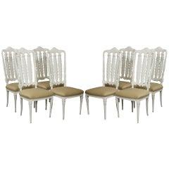 Eight Italian Neoclassical Design Chairs
