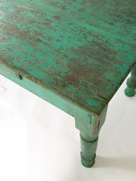 Antique Painted Farm Table For Sale 2