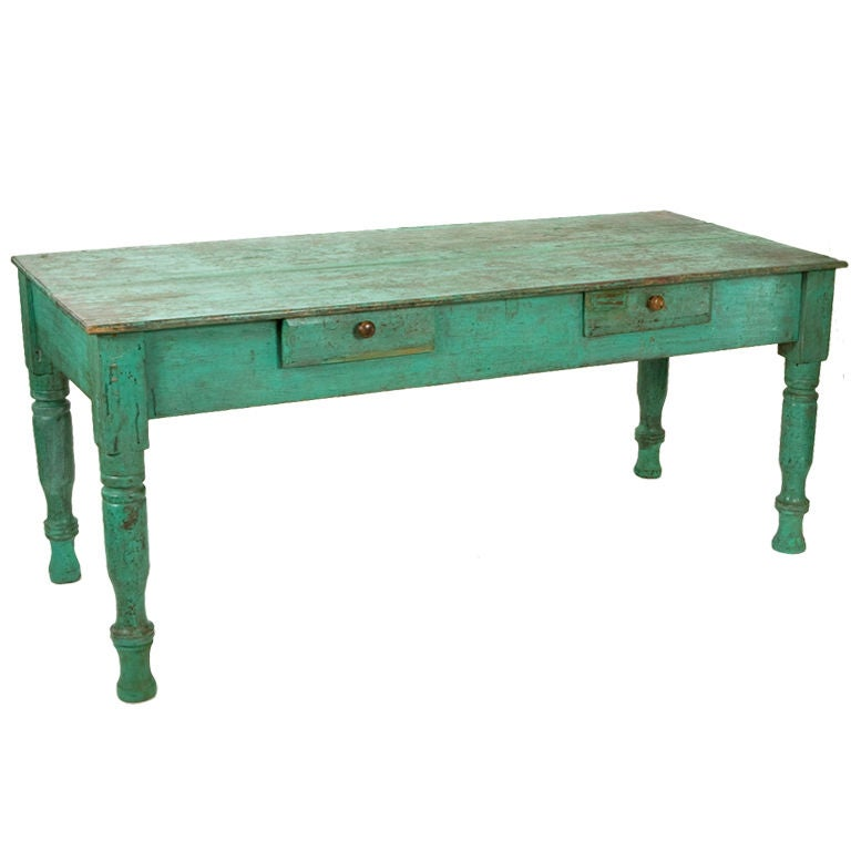 Antique Painted Farm Table At 1stdibs