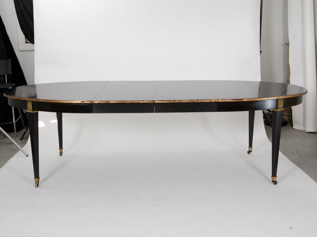 Oval black lacquer dining table at 1stdibs for Oval dining room table