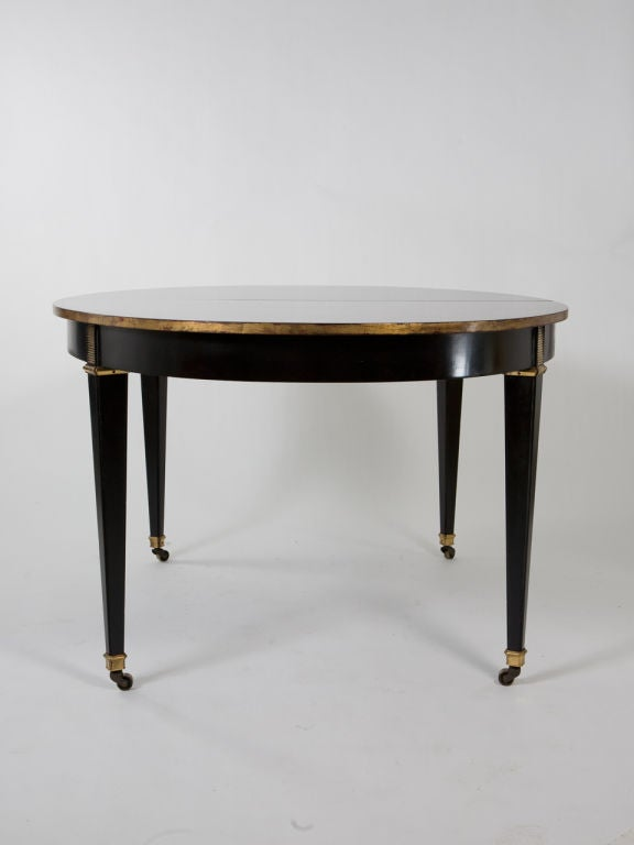 this oval black lacquer dining table is no longer available