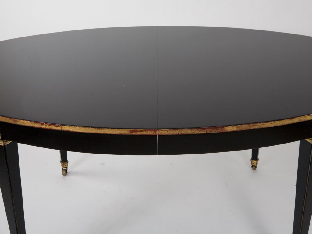 oval black lacquer dining table at 1stdibs