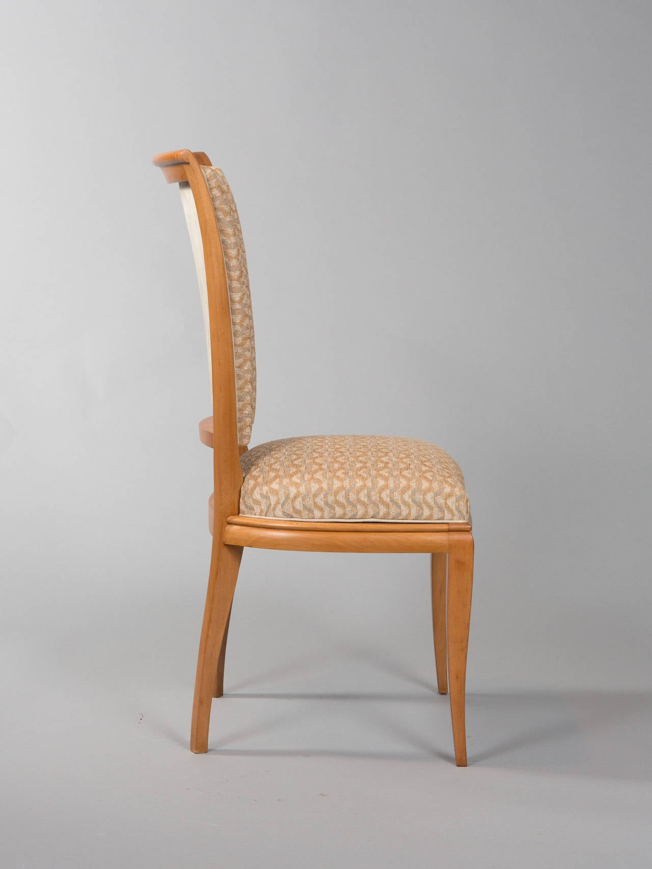 Mid-20th Century Set of Six Deco Dining Chairs For Sale