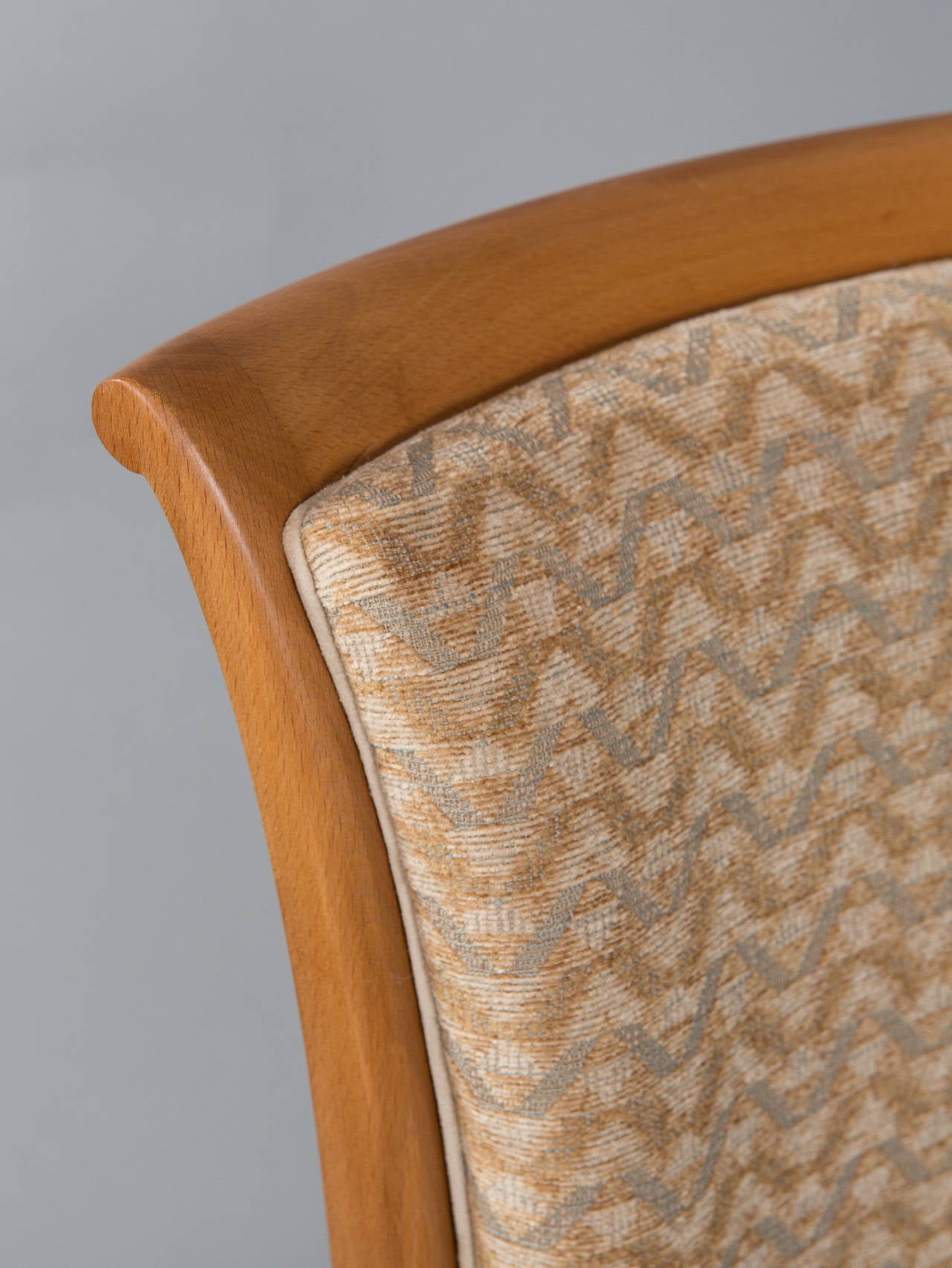 Set of Six Deco Dining Chairs For Sale 4