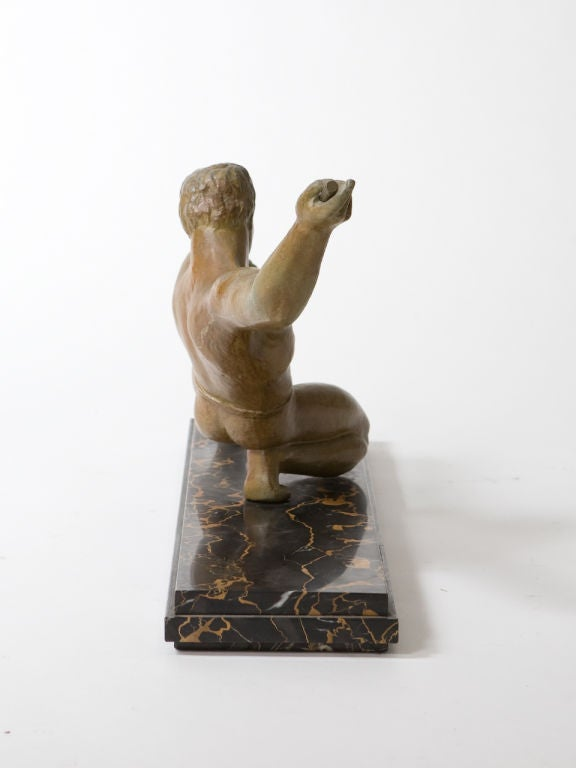 Mid-20th Century Art Deco Figural Bronze Sculpture For Sale