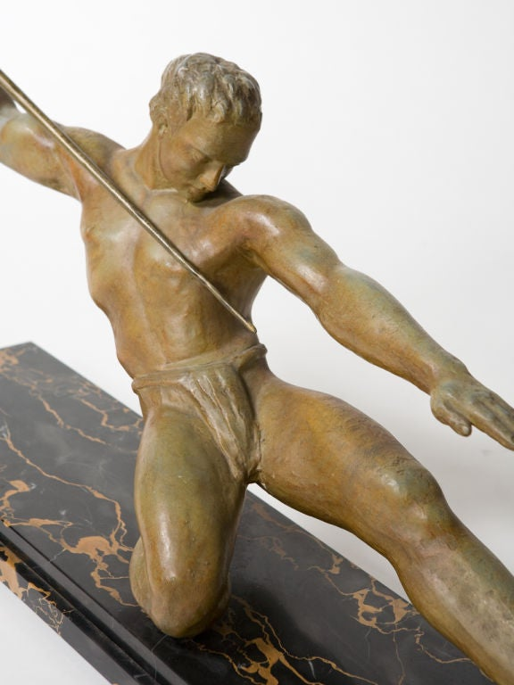 Art Deco Figural Bronze Sculpture For Sale 2