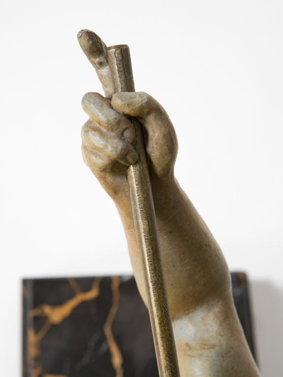 Art Deco Figural Bronze Sculpture For Sale 3