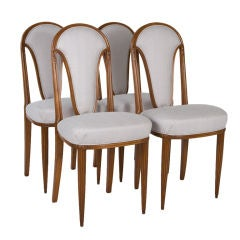 Four French Art Deco Side Chairs
