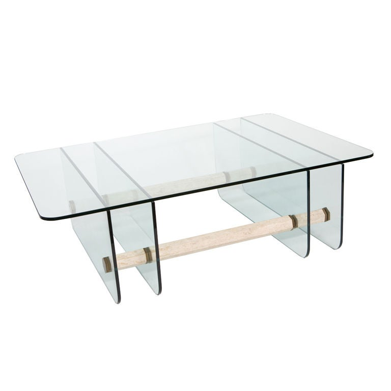 Mid century modern glass coffee table for sale at 1stdibs for Modern coffee table sale