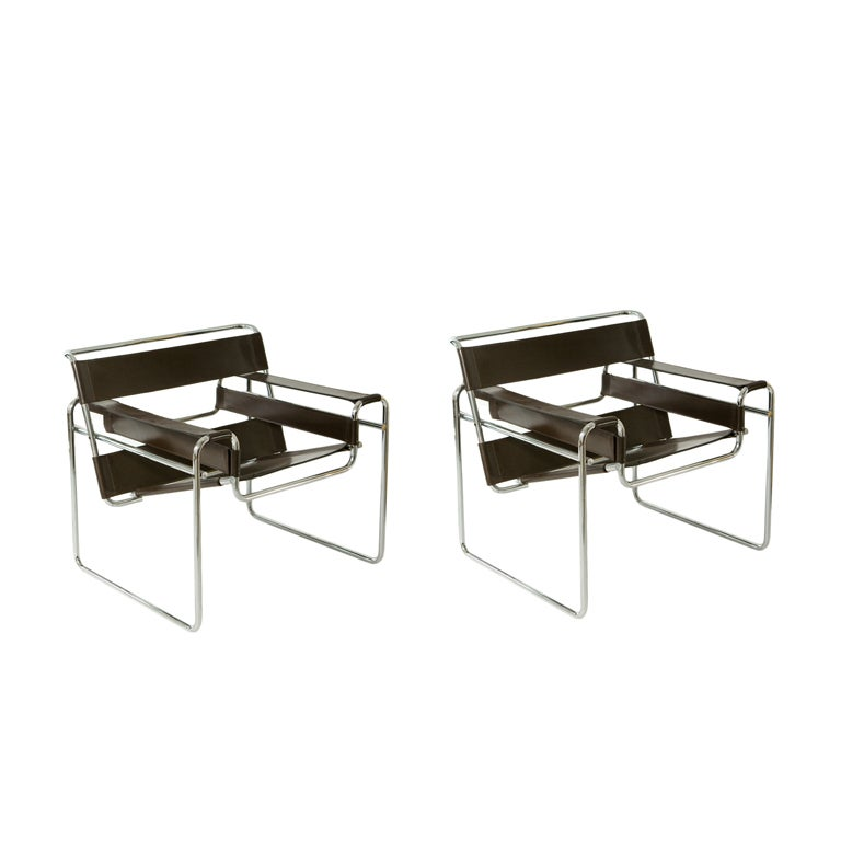 Pair of wassily chairs by marcel breuer at 1stdibs