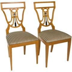 Pair of Fruitwood Side Chairs