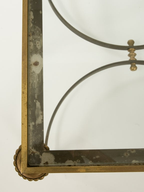 Steel Neoclassical Side Table Attributed to Ramsay For Sale