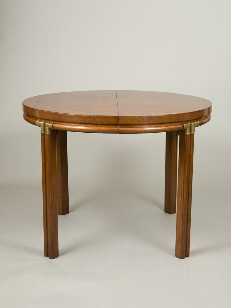 mid century round ash dining table at 1stdibs. Black Bedroom Furniture Sets. Home Design Ideas
