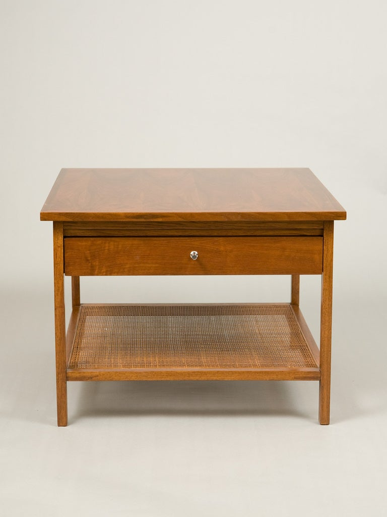 Mid Century Teak And Cane Coffee Table At 1stdibs