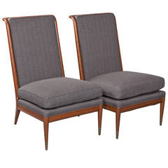 Pair of John Stuart Slipper Chairs