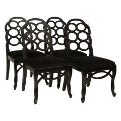 Four Frances Elkins Loop Chairs