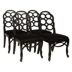 Four Frances Elkins Style Loop Chairs