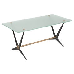 Italian Metal and Glass Coffee Table