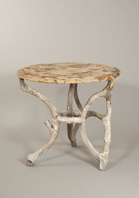 Faux Bois Round Table At 1stdibs