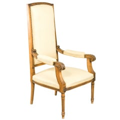Louis XVI Style High Back Fauteuil
