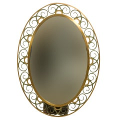 French Oval Deco Style Mirror