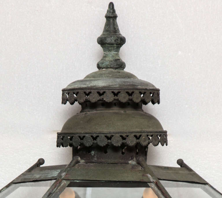19th Century Copper Lanterns In Excellent Condition For Sale In New York, NY