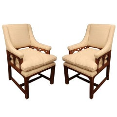 Pair of Gothic Arm Chairs