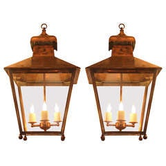 19th Century English Copper Exterior Lantern