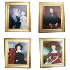The Tollemache Family Set of Four Oil Paintings