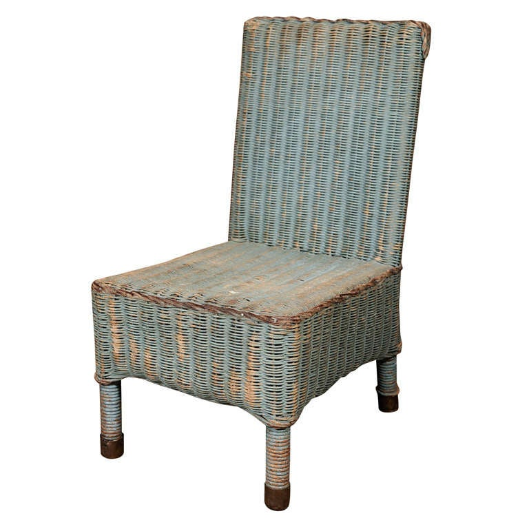 lloyd loom child 39 s wicker chair at 1stdibs. Black Bedroom Furniture Sets. Home Design Ideas