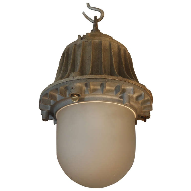 nautical light with frosted glass at 1stdibs