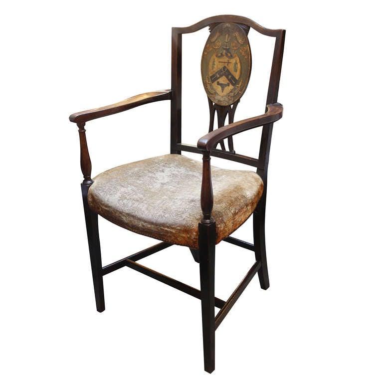 18th Century Masonic Chair At 1stdibs