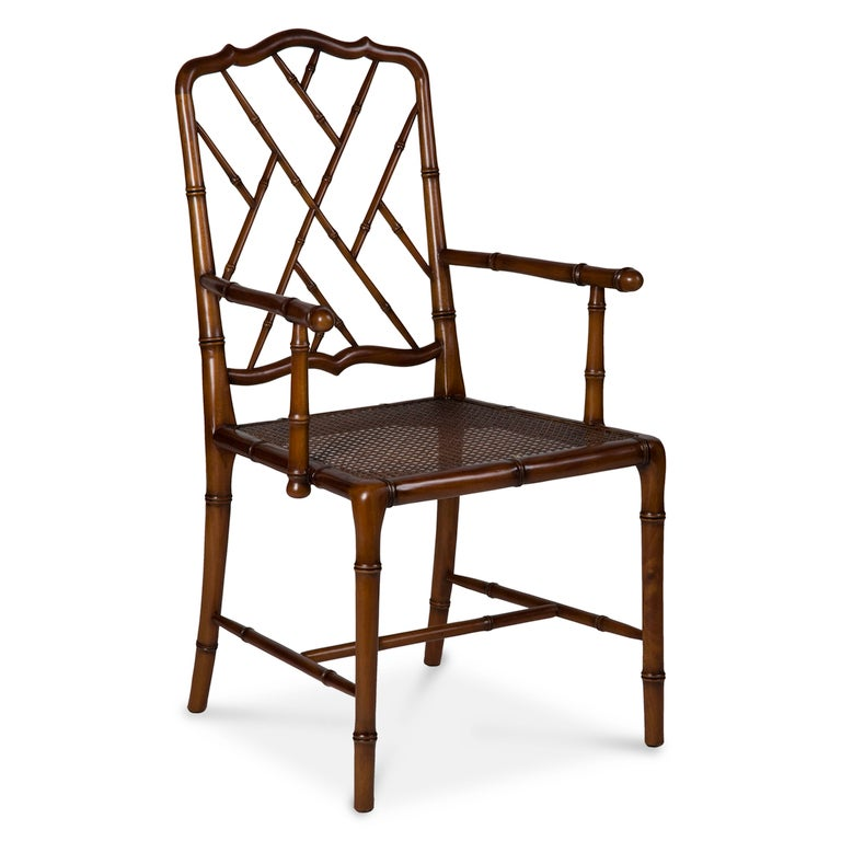 Set of Six Faux Bamboo Chairs For Sale at 1stdibs