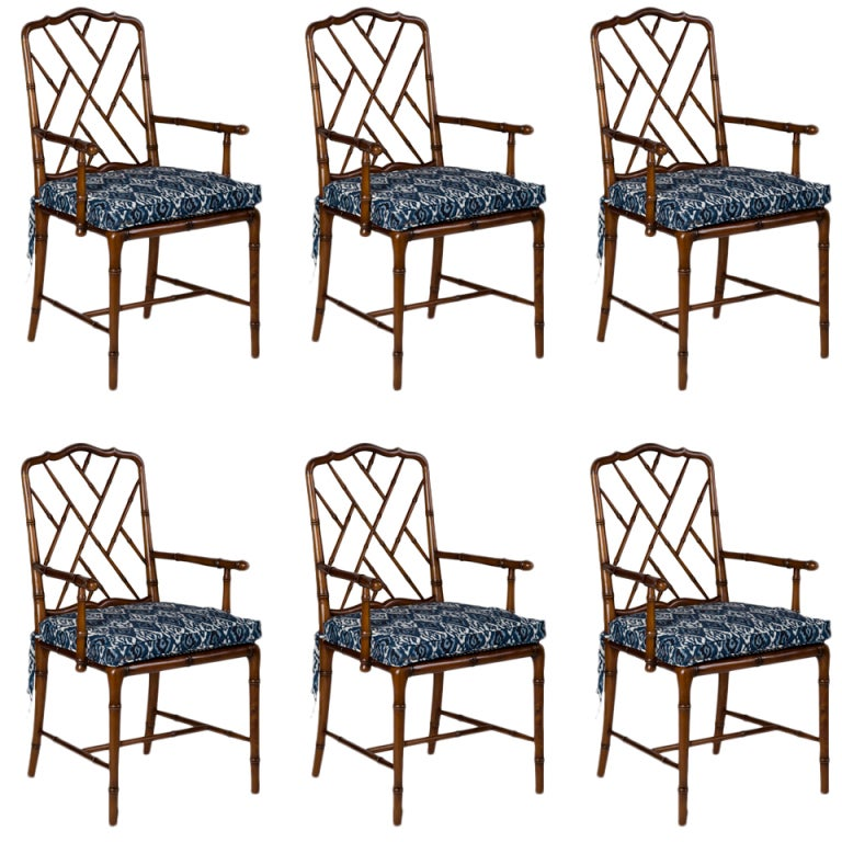 Set of 6 Faux Bamboo Chairs at 1stdibs