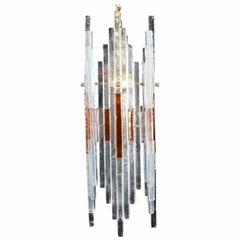 Mid Century Italian Modern Art Glass Chandelier